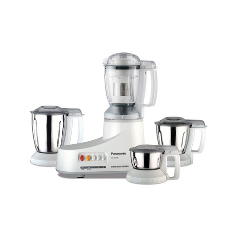 Panasonic (White) Super Mixer Grinder With Hardened Stainless Blades MXAC400