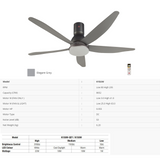 KDK K15UWREY (150cm/ 60″) Nikko Ceiling Fan (Long Pipe) with LED Light