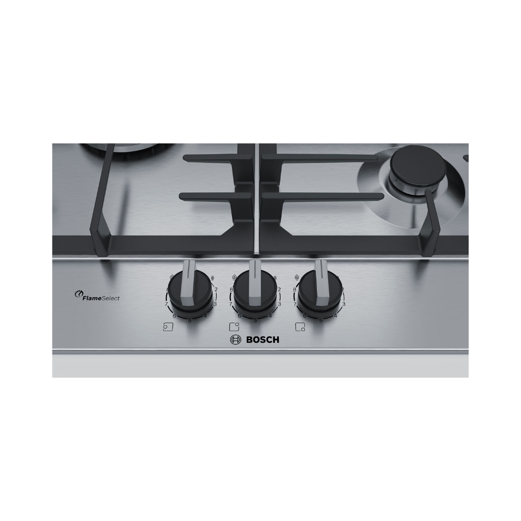 Bosch PCC6A5B90 60cm Built-In FlameSelect Stainless Steel Gas Hob