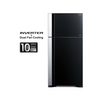 Hitachi 601L 2 Doors Inverter Dual Fan Cooling Refrigerator (Black) RVG710P7M