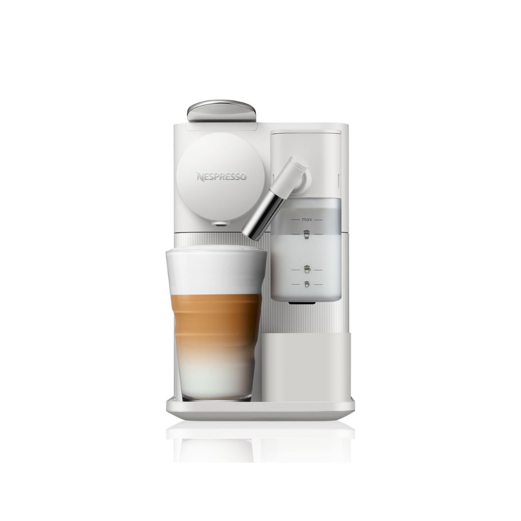 Nespresso F111.ME (Silky White / Mocha Brown) Lattissima One Coffee Machine