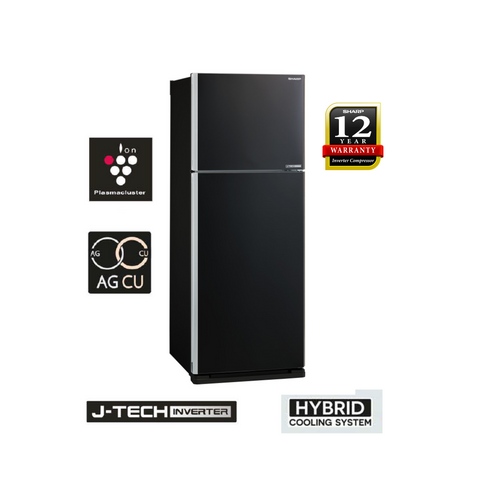 Sharp Pelican 440L 2 Doors J-Tech Inverter Technology Refrigerator - SJE438MK
