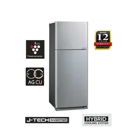 Sharp Pelican 440L 2 Doors J-Tech Inverter Technology Refrigerator - SJE438MS