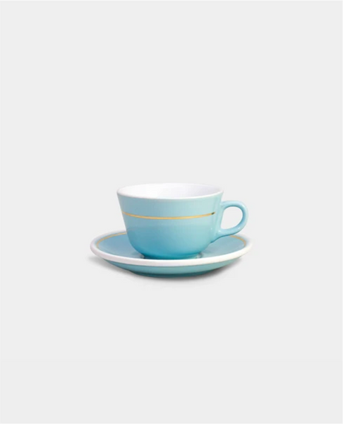 Ceramic Flat White Cup and Saucer