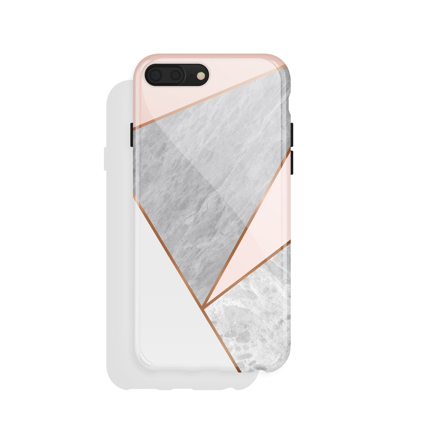 Pink Marble Geometric(#932)