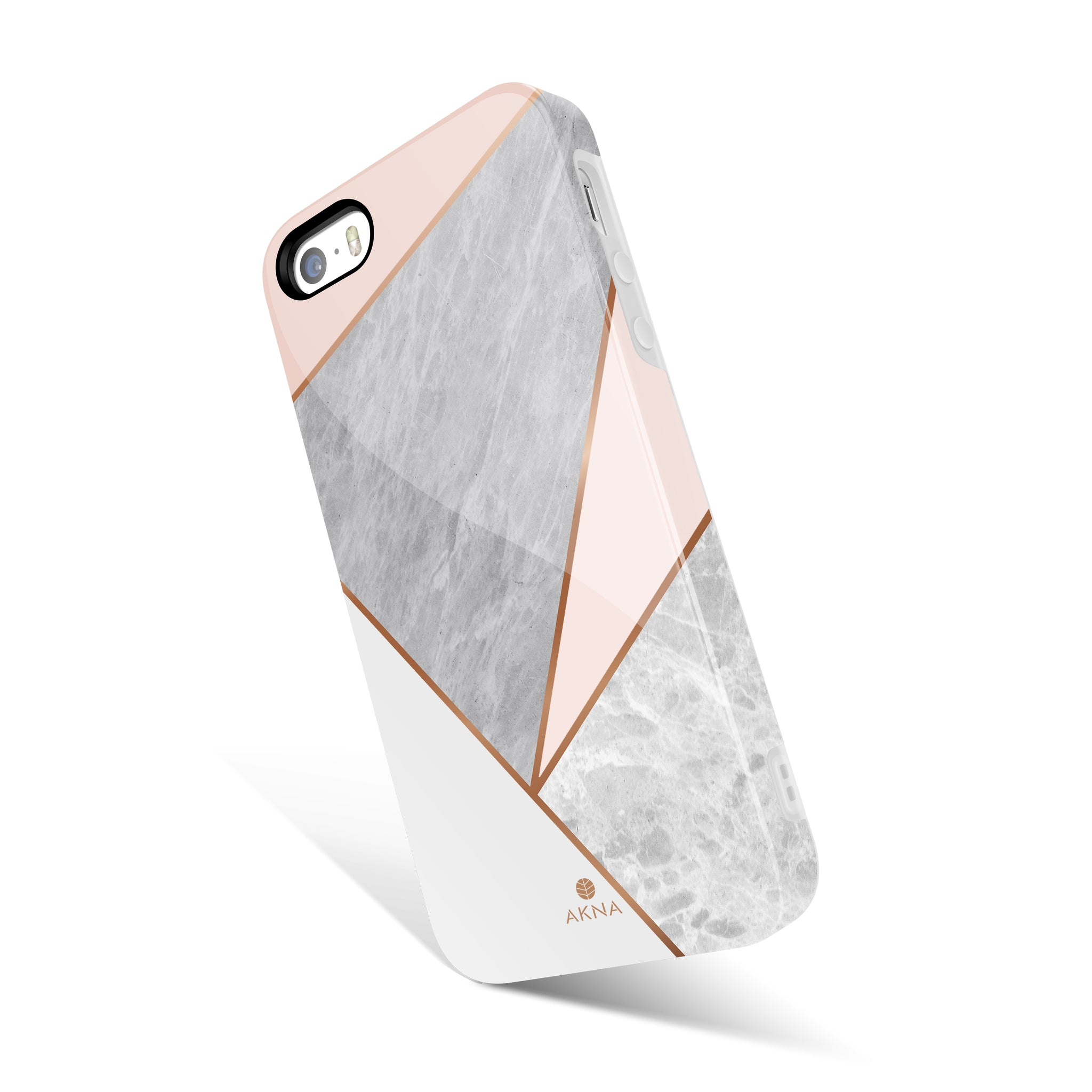 Pink Marble Geometric(#1245)