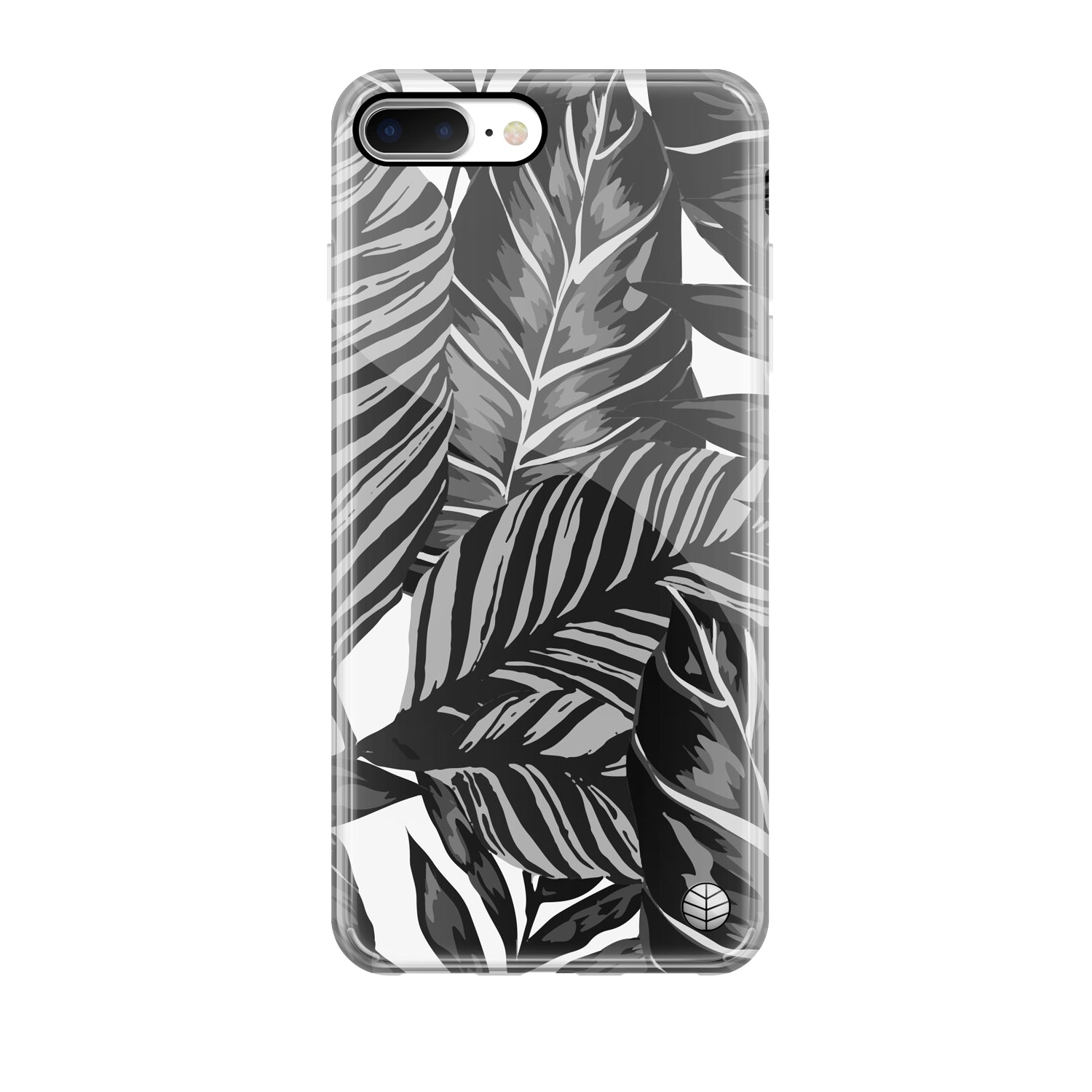 Black Tropical Leaves(#1165)