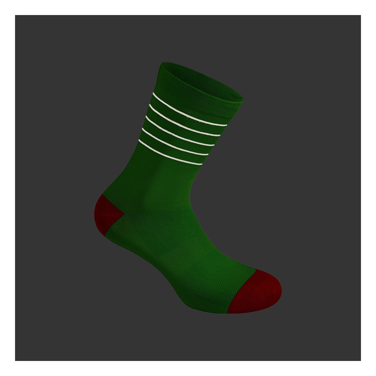 Reflective Green Flash Socks