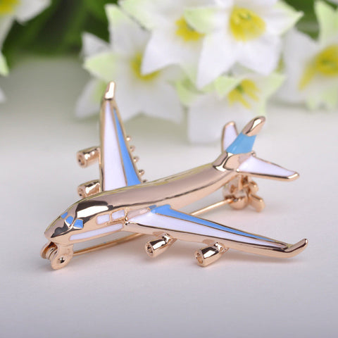 Delicate Airplane Brooch Enamel Pin