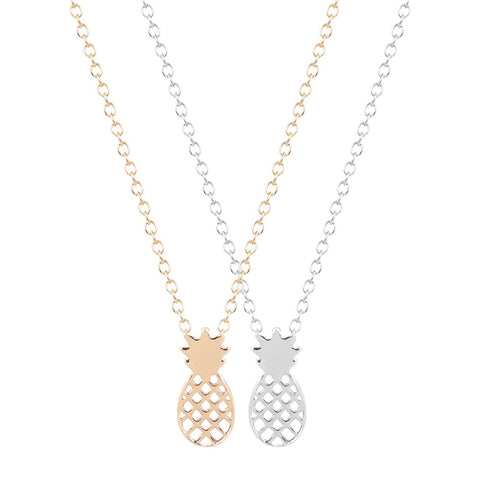 Exquisite Pineapple Fruit Pendant Necklace