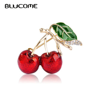Exquisite Cherry Brooch Accessory Pin