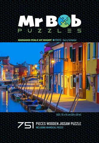 Burano Italy By Night, 751 Pieces