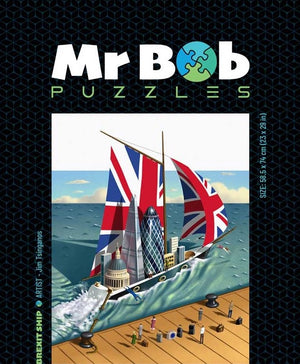 Brexit Ship, 1001 Pieces, Tsinganos genius, Collector's Item-Mr Bob Puzzles - Wooden Jigsaw Puzzles