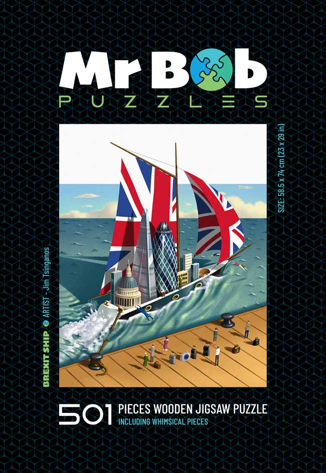 Brexit Ship: Collector's Item - Wooden Jigsaw Puzzle-Mr Bob Puzzles - Wooden Jigsaw Puzzles