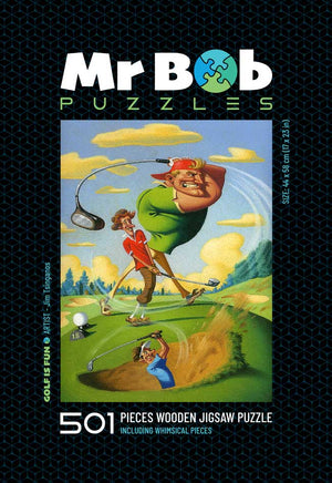 Golf Is Fun! - Wooden Jigsaw Puzzle-Mr Bob Puzzles - Wooden Jigsaw Puzzles
