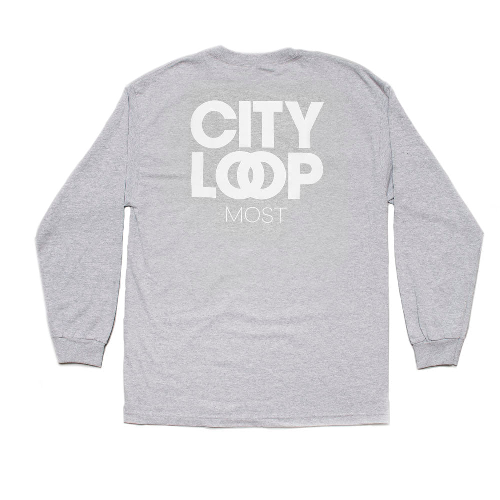 City Loop Long Sleeve Tee - Grey