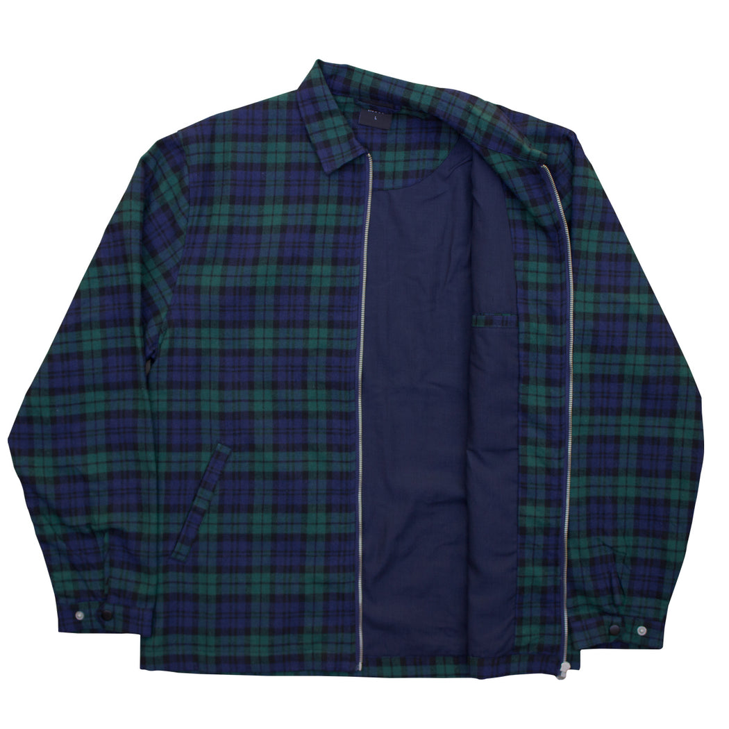 Tartan Over Shirt Jacket - Green/Navy