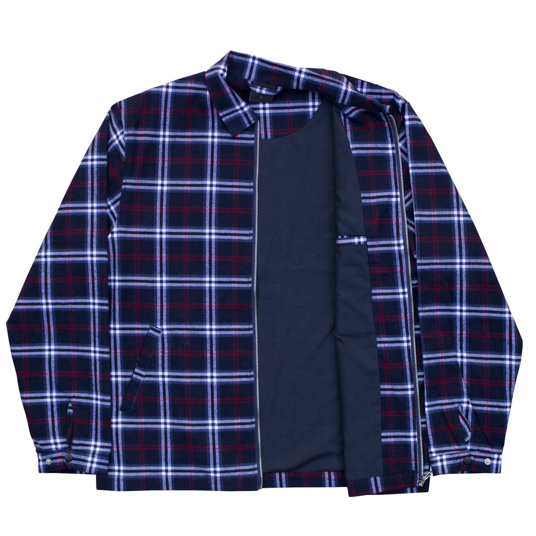 Tartan Over Shirt Jacket - Navy/Red/White