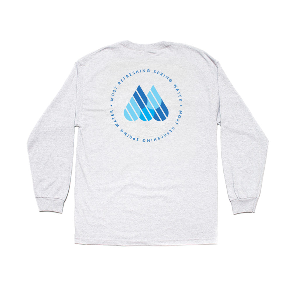 Water Long Sleeve Tee - Ash
