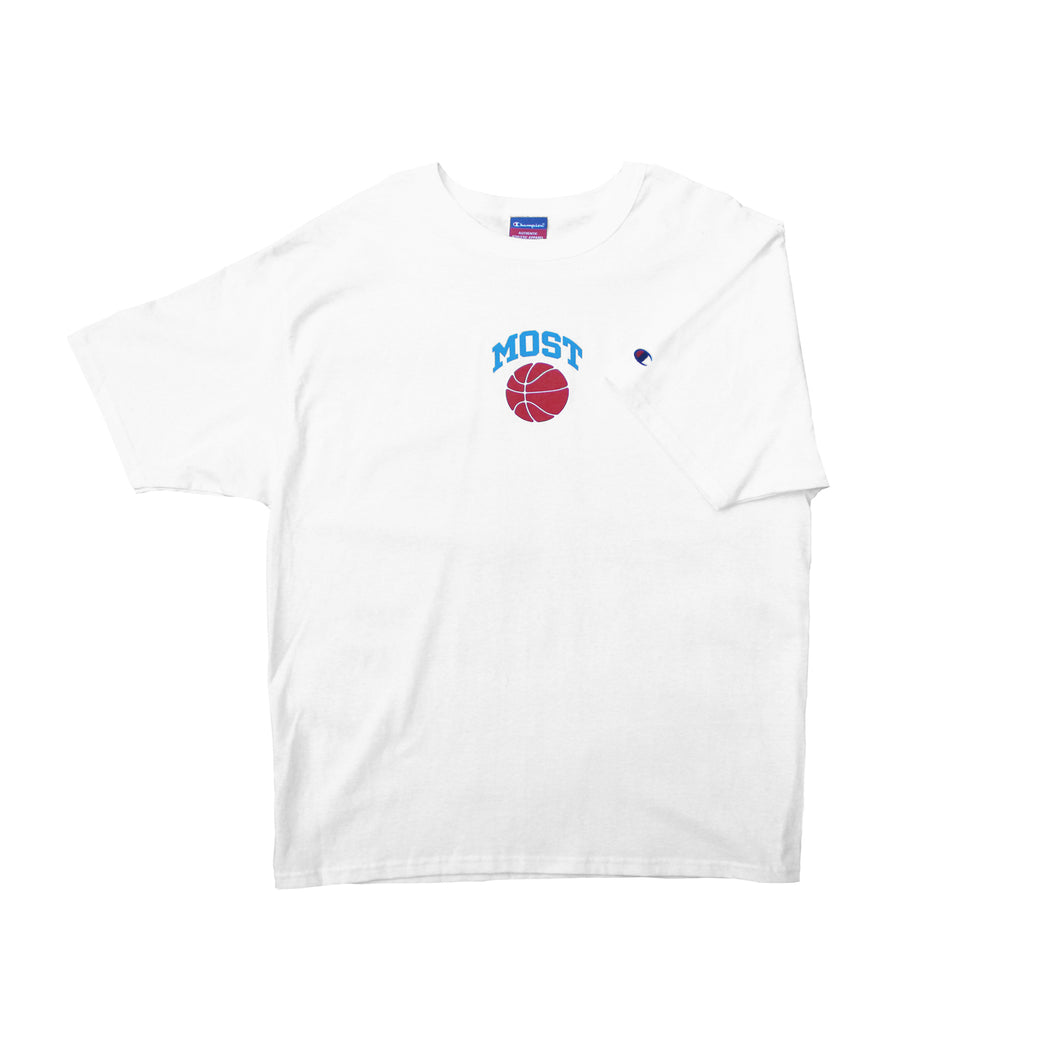 Basketball Tee - White