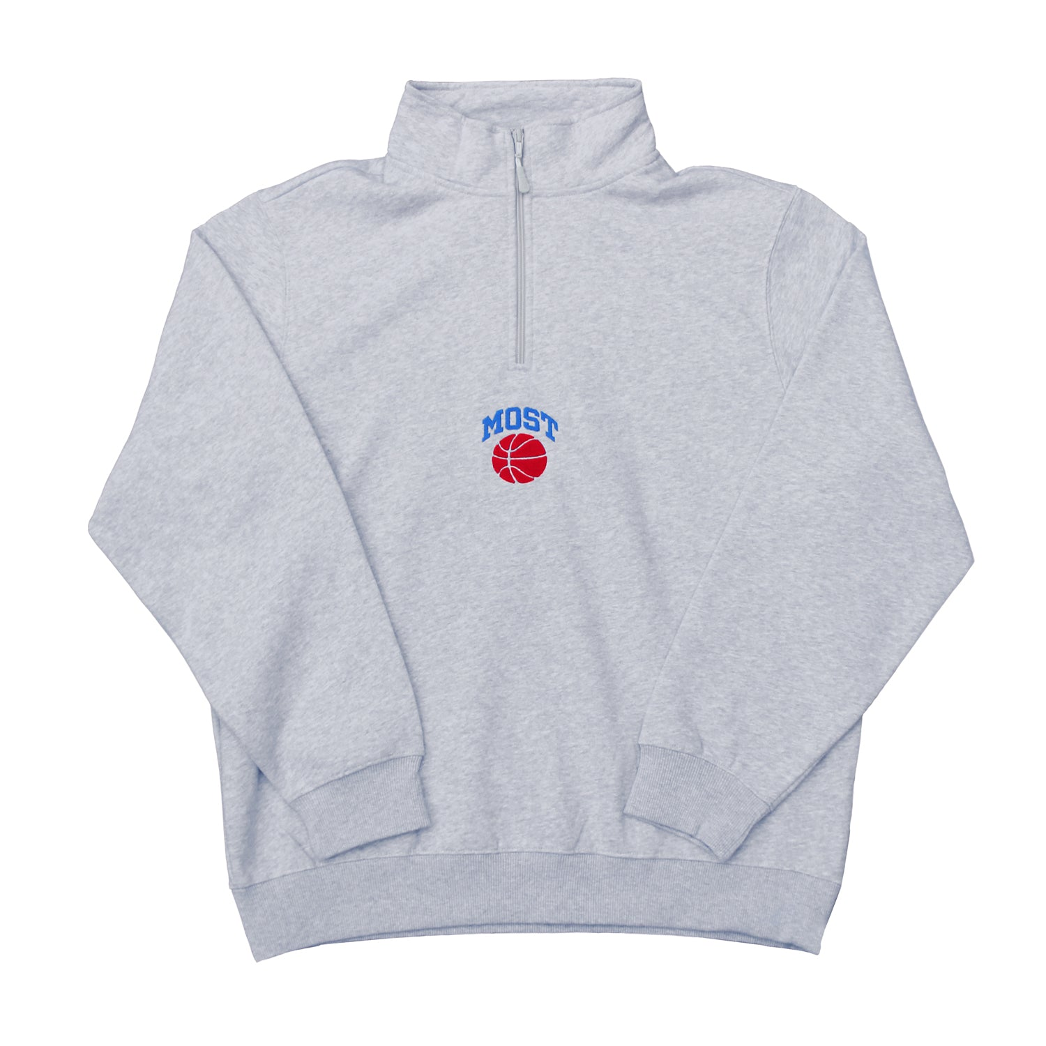 Basketball Quarter Zip - Ash
