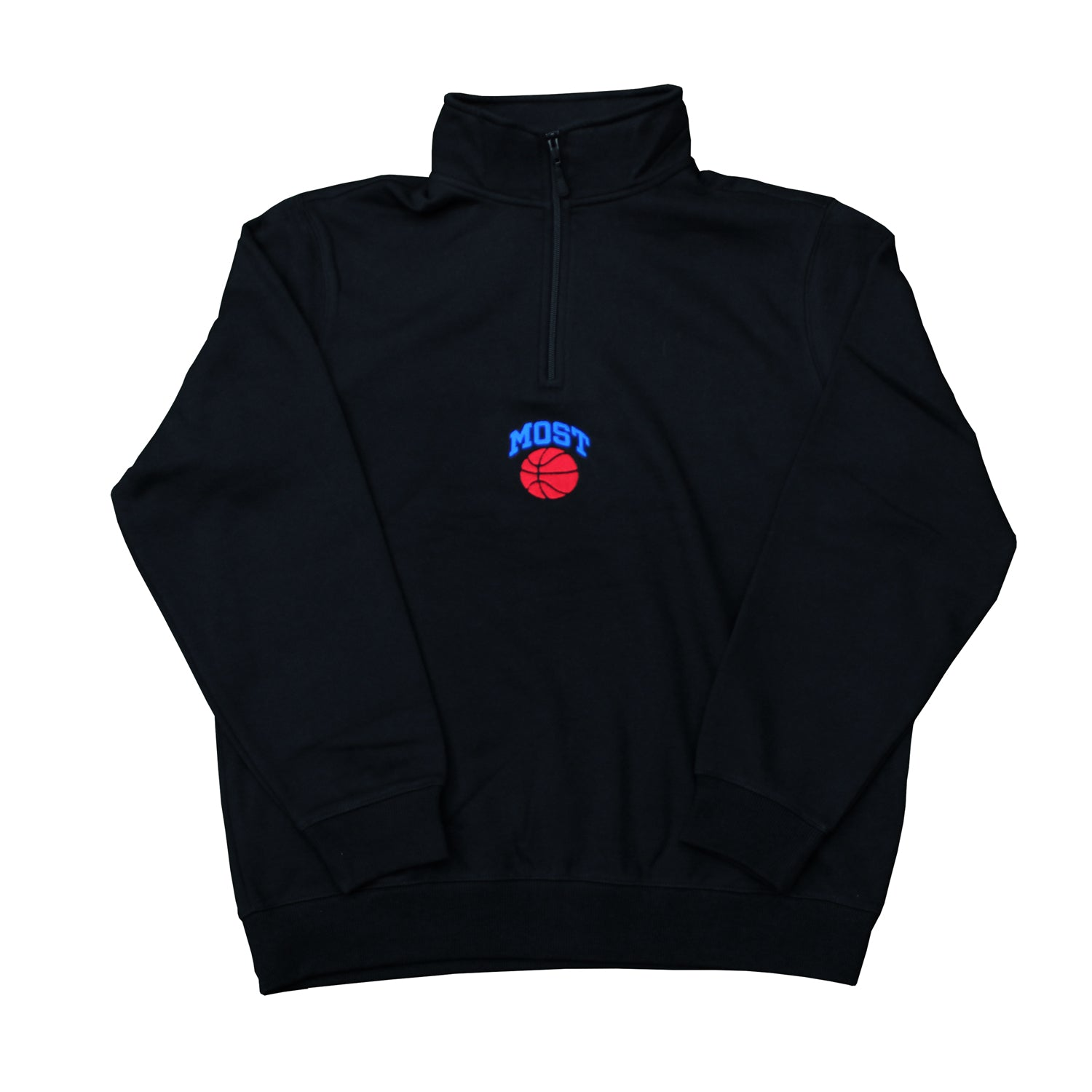 Basketball Quarter Zip - Black
