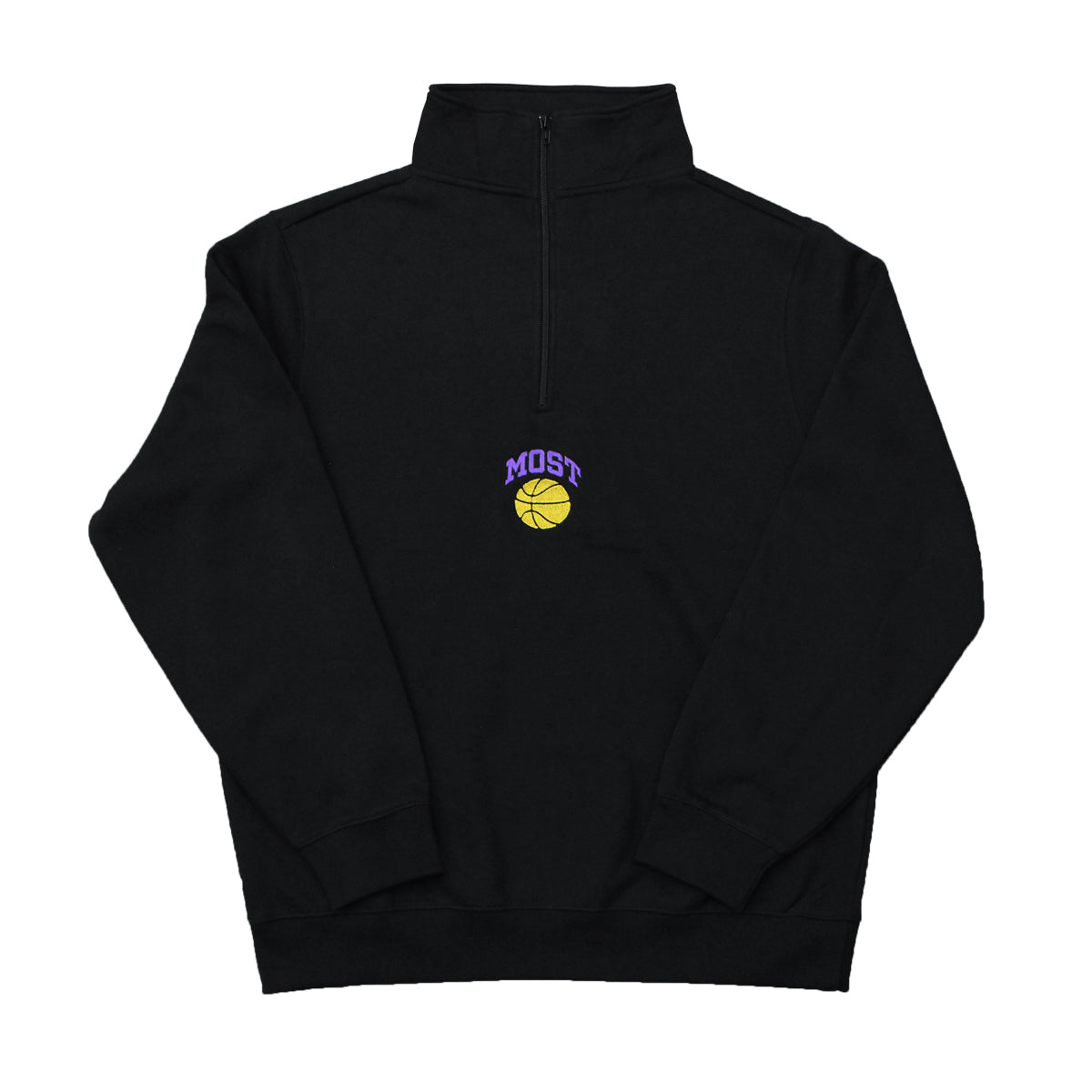 Basketball Quarter Zip - LA Black