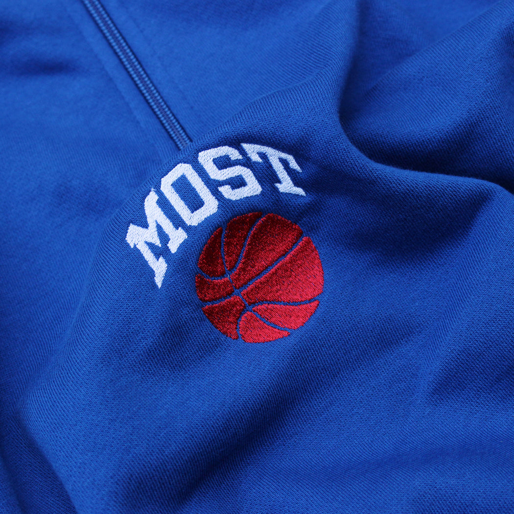 Basketball Quarter Zip - LA Blue