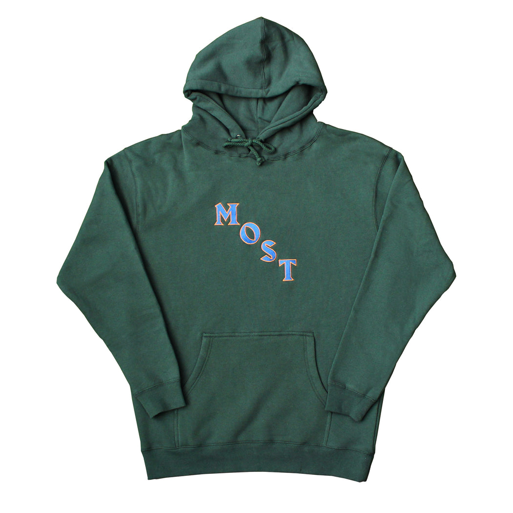 Diagonal Heavyweight Hoodie - Forest