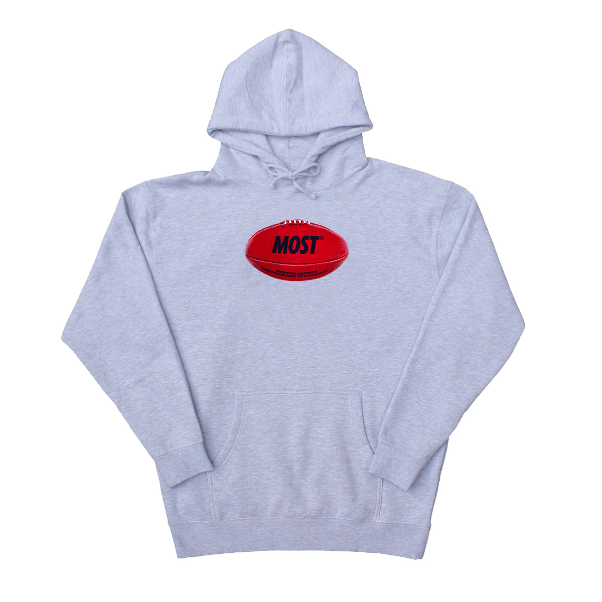 Footy Heavyweight Hoodie - Grey