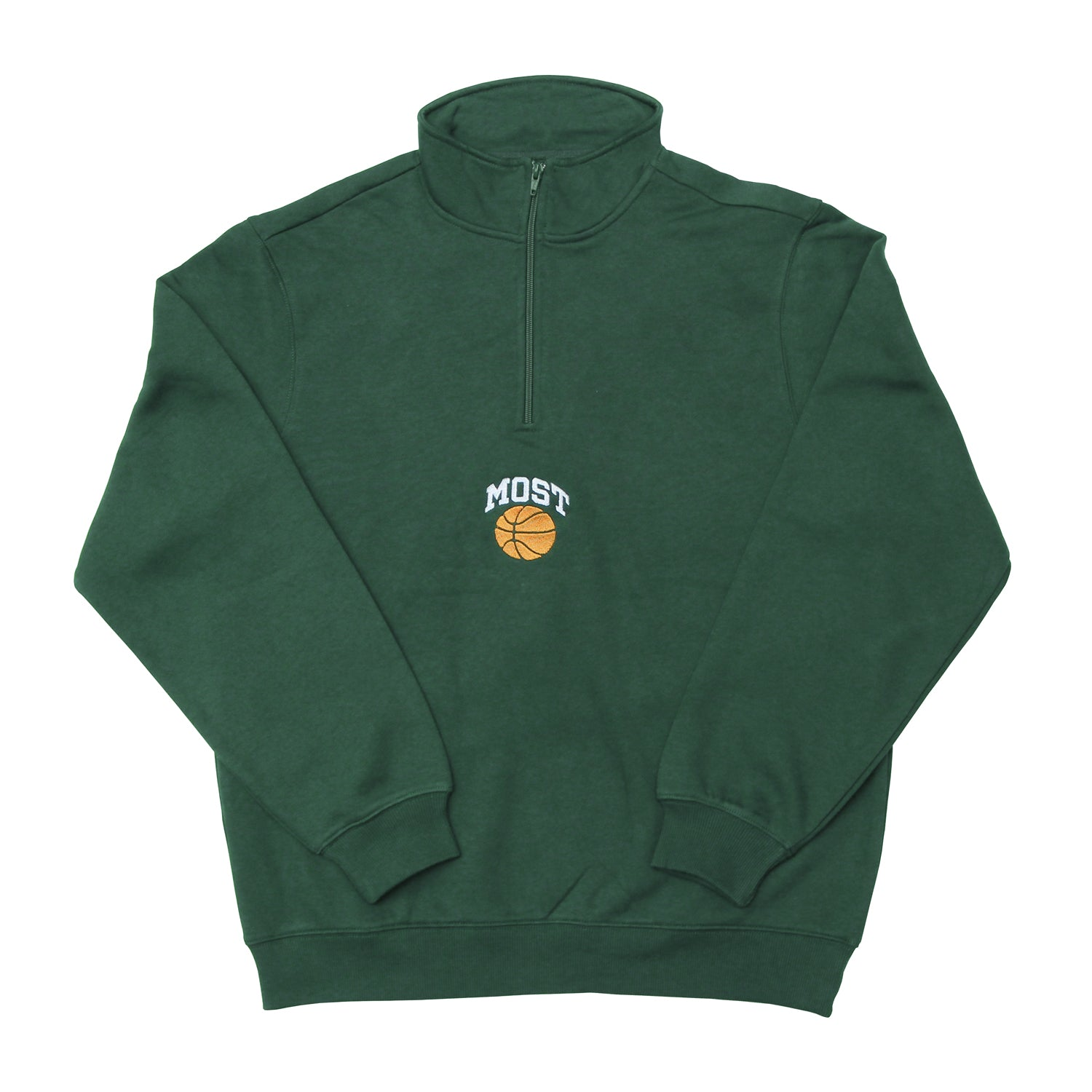Basketball Quarter Zip - Green