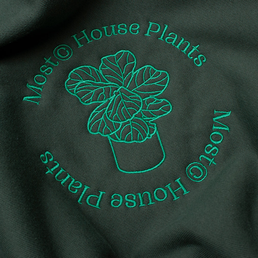 House Plants Heavy Cross Weave Crewneck - Forest