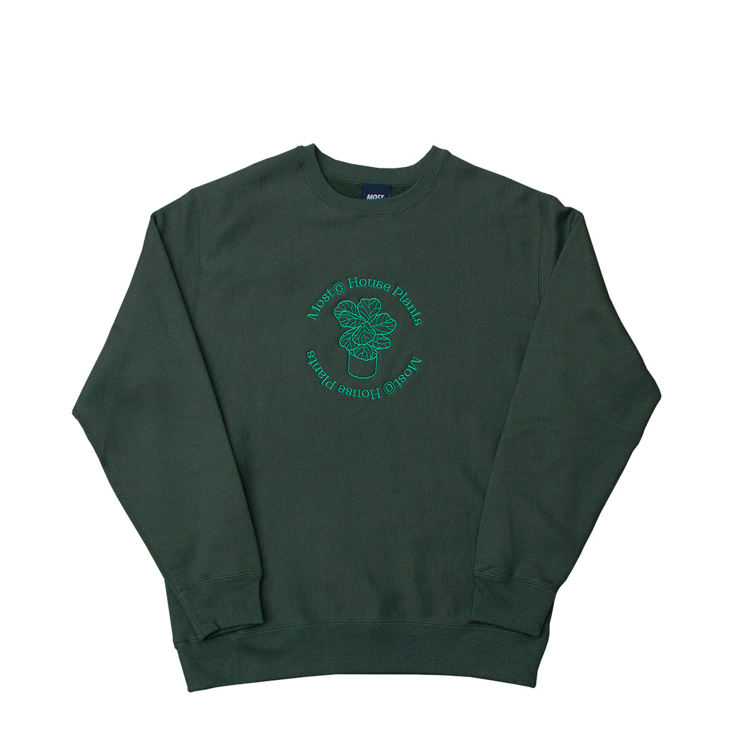 House Plants Ultra Weight Crewneck - Forest