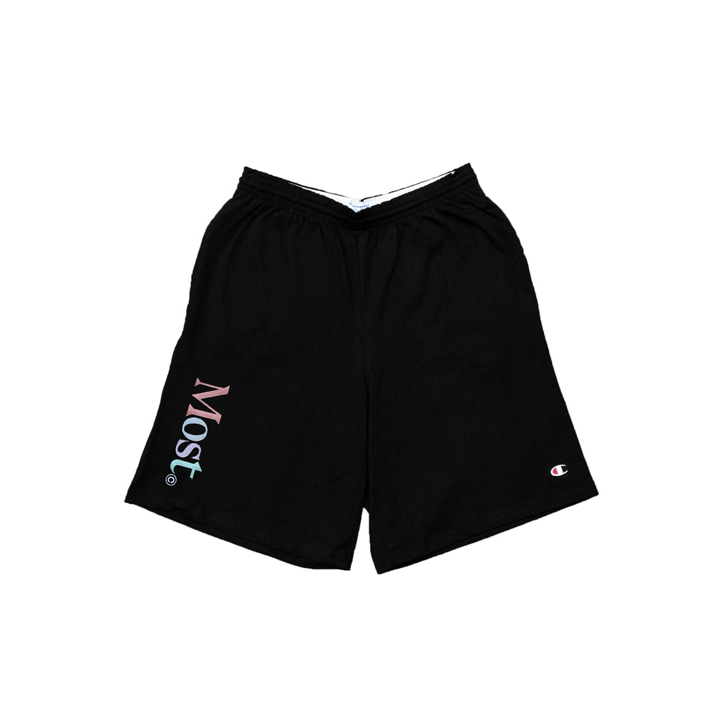 Multi Serif Sweatshort - black