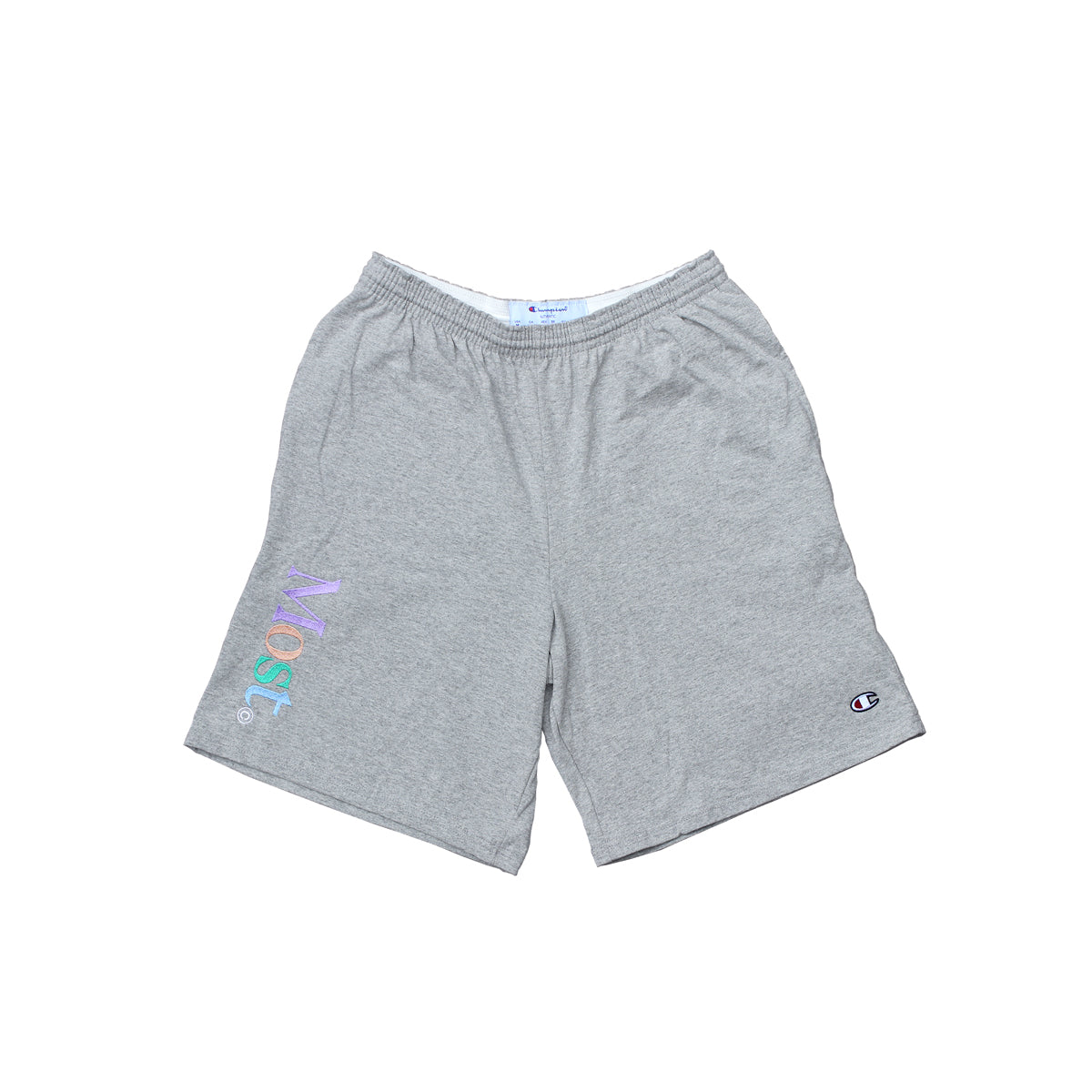 Multi Serif Champion® Sweatshort - Grey