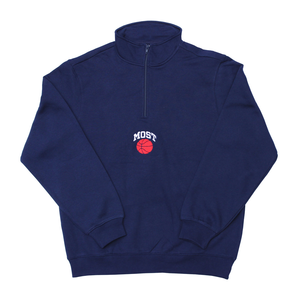 Basketball Quarter Zip - Navy