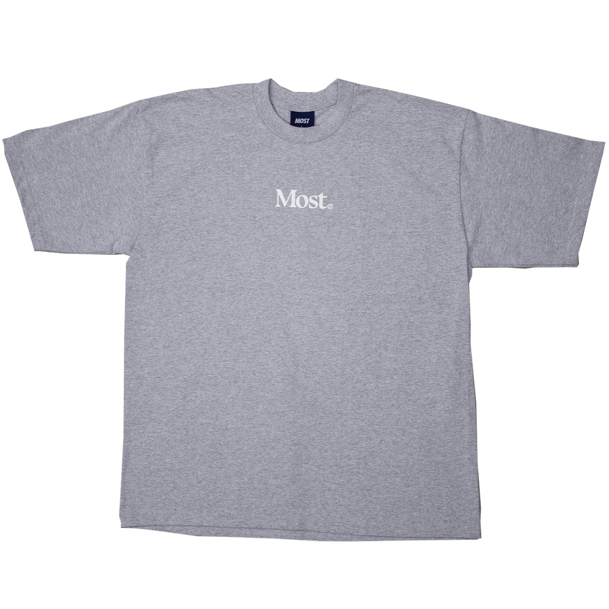 Serif Oversized Heavy Tee - Grey