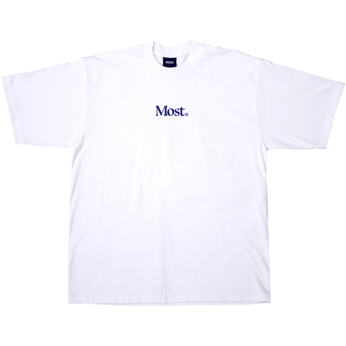 Serif Oversized Heavy Tee - White