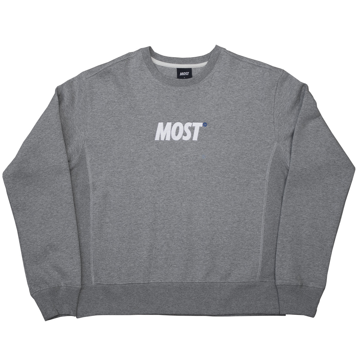 Logo© Smoothweight Crewneck - Steel