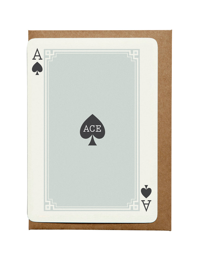 Ace Spades A6 Greeting Card