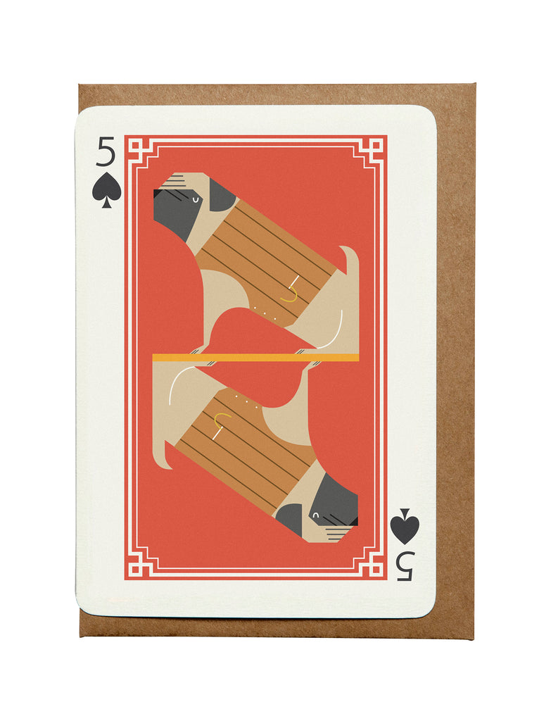5 of Spades A6 Greeting Card