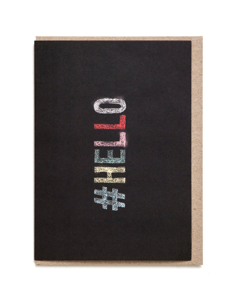 Hello A6 Greeting Card