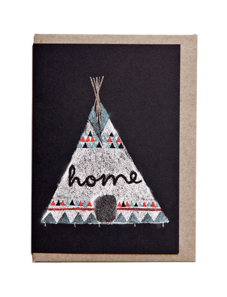 Tee Pee A6 Greeting Card