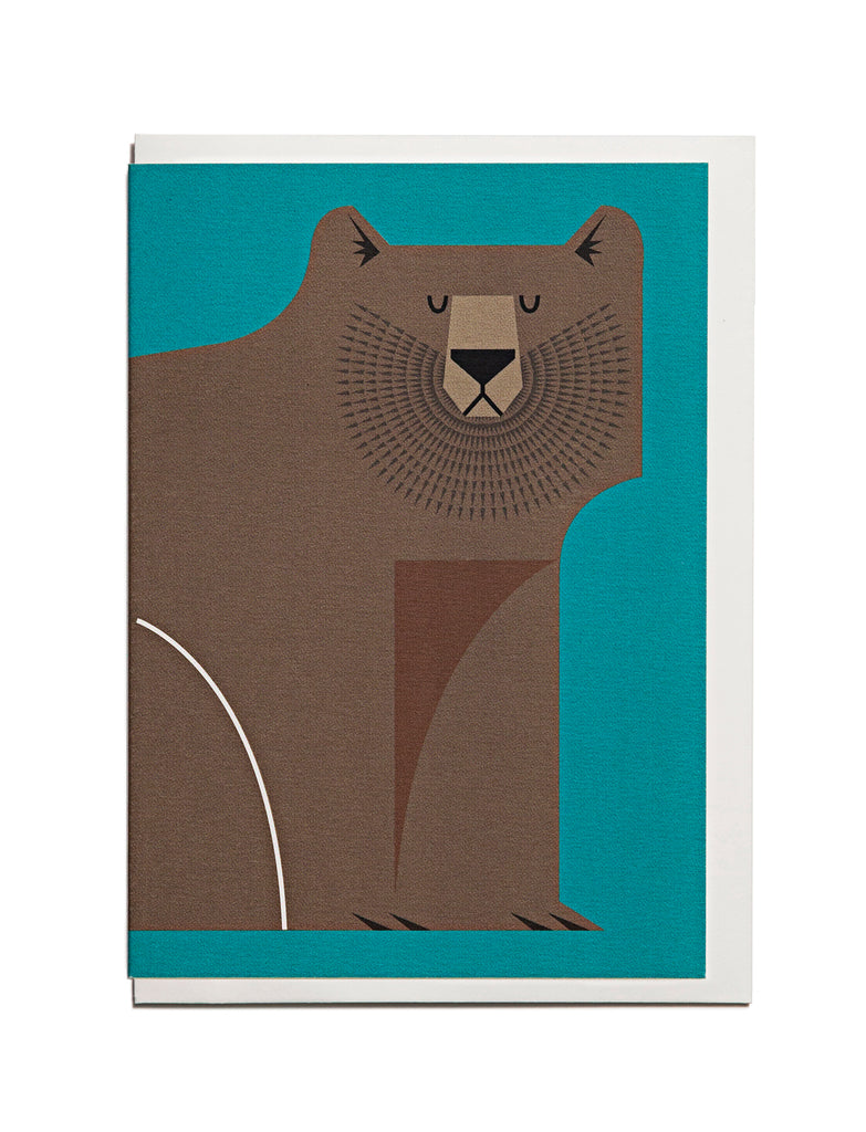 Brown Bear A6 Greeting Card