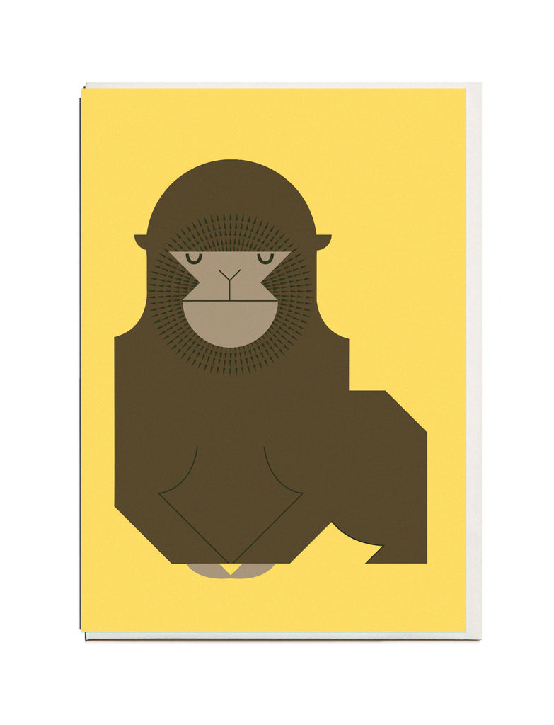 Gorilla A6 Greeting Card