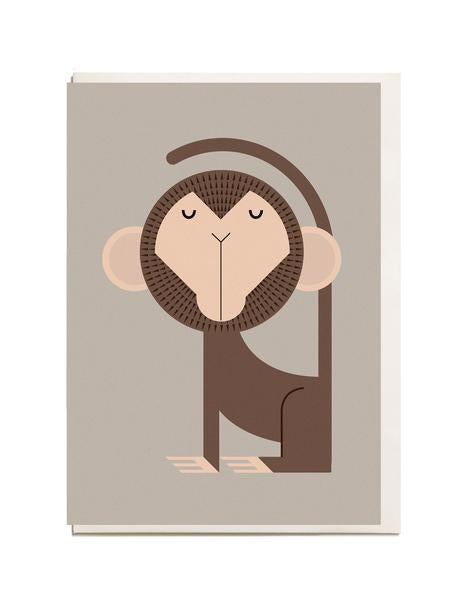 Monkey A6 Greeting Card