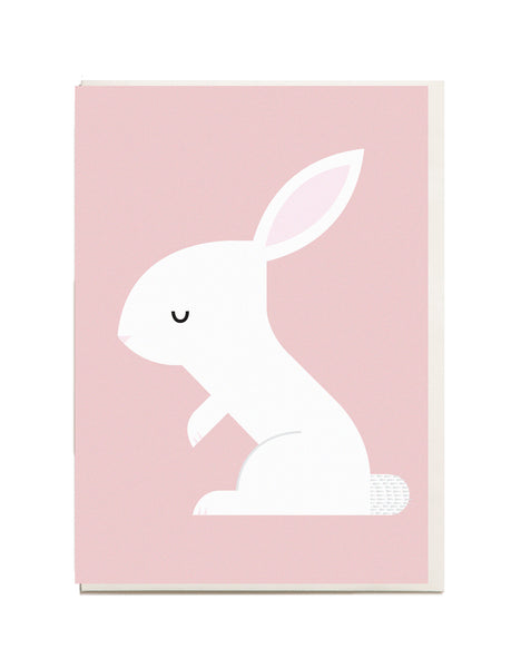 Rabbit A6 Greeting Card