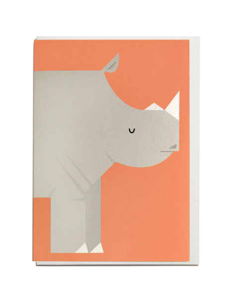 Rhino A6 Greeting Card