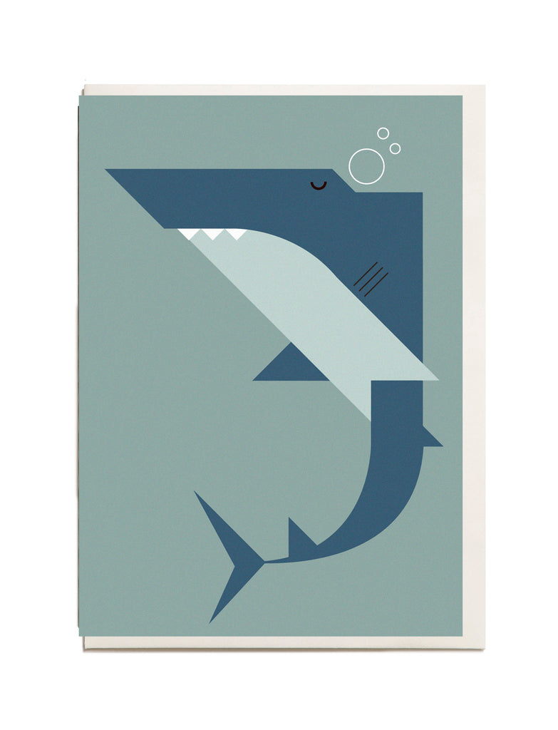 Shark A6 Greeting Card