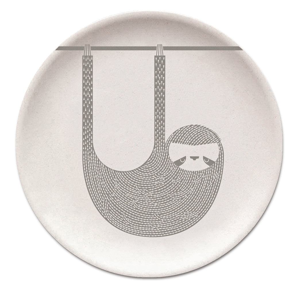 Sloth Bamboo Plate